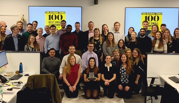 Harnham Named one of the Sunday Times' Top 100 Companies to Work For